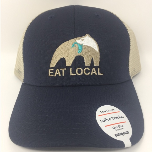 96d4d71f21e Patagonia Eat Local Upstream LoPro Trucker Hat NWT